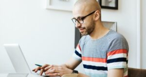 Picture of man with laptop