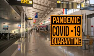 picture of pandemic sign on door
